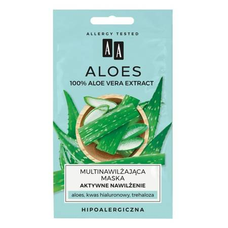 AA ALOES Aloe Vera Maska Aktywne nawilżenie 2x4ml