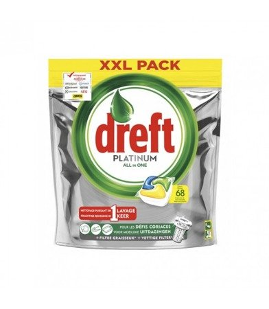 Dreft Platinum Lemon kapsułki do zmywarki 68 szt.