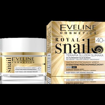 Eveline Royal Snail 40+ Krem intensywnie przeciwzmarszczkowy dzień/noc 50ml