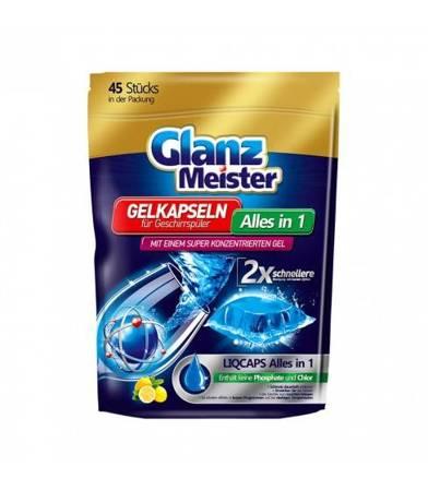 GlanzMeister kapsułki żelowe do zmywarki 45 sztuk